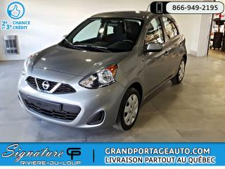 Used 2015 Nissan Micra 1 PROPRIO*SV * AUTOMATIQUE for sale in Rivière-Du-Loup, QC