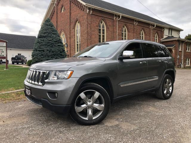 2012 Jeep Grand Cherokee Overland - LEATHER - PANO ROOF - PUSH TO START