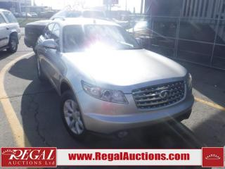 Used 2005 Infiniti FX35 4D Utility 4WD for sale in Calgary, AB