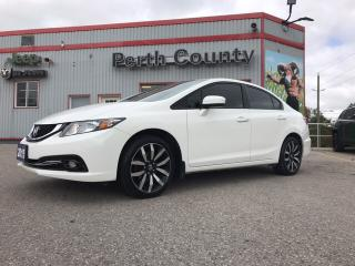 Used 2015 Honda Civic Touring Nav* SUNROOF* Loaded* Leather for sale in Mitchell, ON