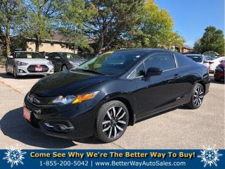 Used 2015 Honda Civic COUPE EX-L| Back up cam| Leather| Navi| Loaded! for sale in Stoney Creek, ON