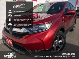 Used 2017 Honda CR-V EX FACTORY WARRANTY, GREAT ON GAS, ONE OWNER, PAINT PROTECTION FILM, SMOKE-FREE - $194 BI-WEEKLY - $0 D for sale in Cranbrook, BC