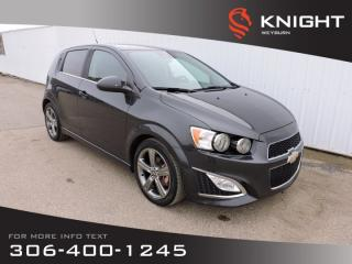 Used 2014 Chevrolet Sonic RS| Leather Seats | Remote Start | Back-up Camera | Heated Front Seats | Lane Departure Warning for sale in Weyburn, SK