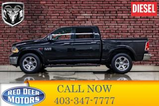 Used 2017 RAM 1500 4x4 Crew Cab Laramie EcoDiesel Leather Roof Nav for sale in Red Deer, AB