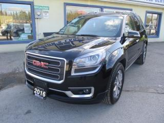 Used 2016 GMC Acadia ALL-WHEEL DRIVE SLT EDITION 7 PASSENGER 3.6L - V6.. CAPTAINS.. 3RD ROW.. LEATHER.. HEATED SEATS.. DUAL SUNROOF.. BACK-UP CAMERA.. BLUETOOTH.. for sale in Bradford, ON