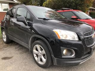 Used 2015 Chevrolet Trax LTZ AWD! Sunroof, Heated Leather and BackupCam with AutoStart! Full Pwr Equipment with Alloys and Fog Li for sale in Kemptville, ON