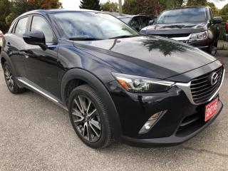 Used 2016 Mazda CX-3 GT Wow! Absolutely loaded with NAV, Leather and Sunroof! Heated Seats, BackupCam, Heads up Display, All for sale in Kemptville, ON