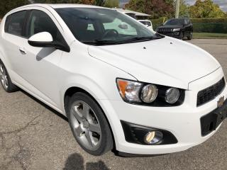 Used 2014 Chevrolet Sonic LT Auto Auto with Sunroof, Heated Seats, BackupCam, AutoStart, Bluetooth and Pwr Windows, Cruise, Air and Al for sale in Kemptville, ON