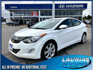Used 2013 Hyundai Elantra Limited Auto - Leather / Sunroof for sale in Port Hope, ON