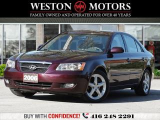 Used 2006 Hyundai Sonata V6*PWR GRP*SUNROOF*LEATHER*WOW CERTIFIED!!* for sale in Toronto, ON