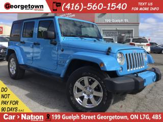 Used 2018 Jeep Wrangler JK Unlimited Sahara|2 TOPS| LEATHER | NAVI | HTD SEATS | AUTO for sale in Georgetown, ON