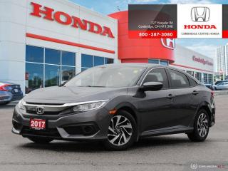 Used 2017 Honda Civic EX HONDA SENSING™ TECHNOLOGIES | POWER SUNROOF | LANEWATCH™ PASSENGER BLIND SPOT CAMERA for sale in Cambridge, ON