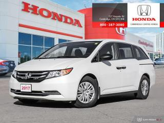 Used 2017 Honda Odyssey LX BLUETOOTH | HEATED FRONT SEATS | REARVIEW CAMERA WITH GUIDELINES for sale in Cambridge, ON