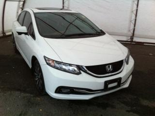 Used 2015 Honda Civic Touring POWER SUNROOF, LEATHER HEATED SEATING, NAVIGATION, REVERSE AND SIDE VIEW CAMERA for sale in Ottawa, ON