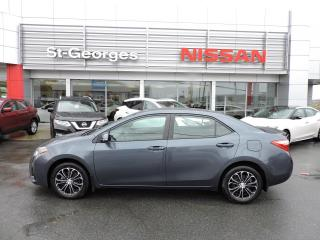 Used 2015 Toyota Corolla Berline 4 portes CVT S for sale in St-Georges, QC
