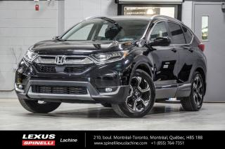 Used 2018 Honda CR-V TOURING AWD; CUIR TOIT PANO GPS HONDA SENSING NAVIGATION - DÉMMAREUR À DISTANCE - TOIT PANORAMIQUE - MONITEUR ANGLES MORT - HONDA SENSING for sale in Lachine, QC