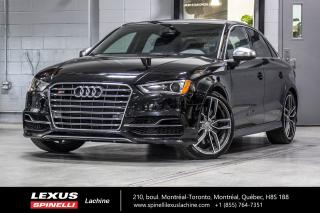Used 2016 Audi S3 S3 TECHNIK AWD CALIPER ROUGE MAG 19' *SEUL 45345 KM* TOIT PANO,CUIR,PUSH TO START for sale in Lachine, QC