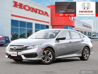 Used 2016 Honda Civic LX REARVIEW CAMERA WITH DYNAMIC GUIDELINES | BLUETOOTH | ECON MODE for sale in Cambridge, ON