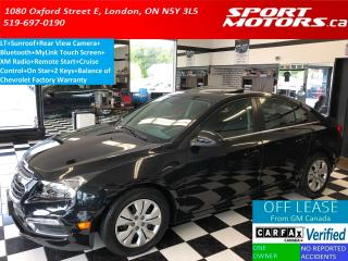 Used 2015 Chevrolet Cruze LT+Sunroof+Camera+Remote Start+Bluetooth+A/C for sale in London, ON