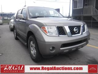 Used 2006 Nissan Pathfinder SE 4D Utility 4WD for sale in Calgary, AB