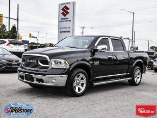 Used 2016 RAM 1500 Limited Crew Cab 4x4 ~Air Ride ~Nav ~Leather ~Roof for sale in Barrie, ON