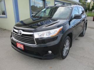 Used 2015 Toyota Highlander ALL-WHEEL DRIVE XLE EDITION 8 PASSENGER 3.5L - V6.. BENCH & THIRD ROW.. NAVIGATION.. LEATHER.. HEATED SEATS.. SUNROOF.. BACK-UP CAMERA.. for sale in Bradford, ON