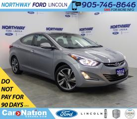 Used 2014 Hyundai Elantra Limited | HTD LEATHER | BACKUP CAM | SUNROOF | for sale in Brantford, ON