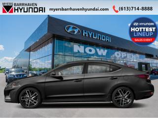 New 2019 Hyundai Elantra Sport AT  - Sunroof -  Leather Seats - $98.37 /Wk for sale in Nepean, ON