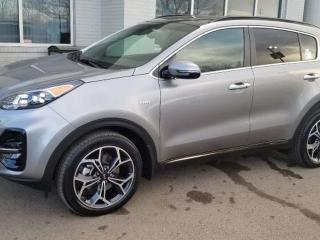 Used 2020 Kia Sportage SX AWD; ADVANCED SAFTEY, NAV, TURBO, LEATHER, BLUETOOTH, BACKUP CAM, HEATED/COOLING SEATS AND MORE! for sale in Edmonton, AB