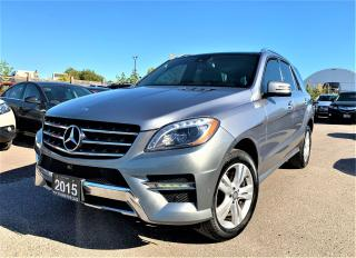 Used 2015 Mercedes-Benz M-Class ML 350 BlueTEC 4MATIC / NAVI / LEATHER / REAR CAM for sale in Brampton, ON