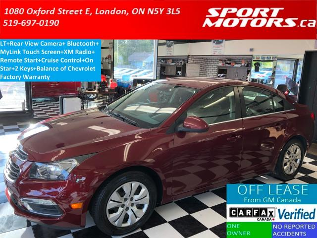 2015 Chevrolet Cruze LT+Camera+Remote Start+Bluetooth+A/C+MyLink