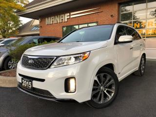 Used 2015 Kia Sorento AWD SX 7 Passenger Panoramic Navi Rear Cam Cetif* for sale in Concord, ON