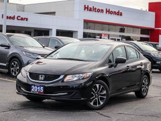 Used 2015 Honda Civic EX|SERVICE HISTORY ON FILE|ACCIDENT FREE for sale in Burlington, ON