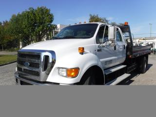 Used 2007 Ford F-750 Super Duty 14 Foot Flat Deck Crew Cab 2WD Dually Diesel for sale in Burnaby, BC