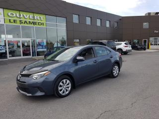 Used 2016 Toyota Corolla LE, CAMERA, BLUETOOTH, A/C for sale in Chambly, QC