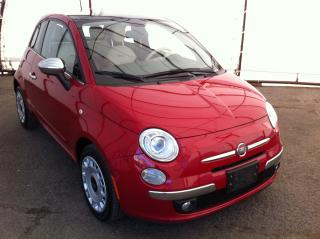 Used 2013 Fiat 500 Lounge POWER SUNROOF, HEATED LEATHER SEATING, BEATS AUDIO SYSTEM for sale in Ottawa, ON