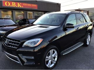 Used 2015 Mercedes-Benz ML-Class 4MATIC-NAVIGAT-TOIT PANORAMIQUE-CAM DE RECUL 360 for sale in Laval, QC