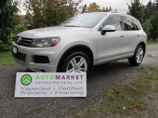 Used 2011 Volkswagen Touareg V6, TDI, EXECLINE, INSP, BCAA MBSHP, WARR, FINANCE for sale in Surrey, BC