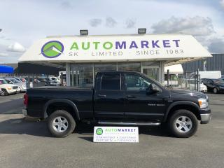 Used 2007 Dodge Ram 1500 SLT Quad Cab 4WD FREE BCAA! FREE WRNTY! YOU WORK/YOU DRIVE!! for sale in Langley, BC