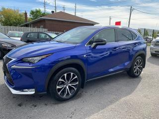 Used 2016 Lexus NX 200t AWD, F-SPORT, ACCIDENT FREE, FACTORY WARRANTY STILL VALID, NAVIGATION, BLUETOOTH, BACKUP CAMERA, 63KM for sale in Ottawa, ON