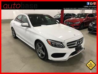 Used 2016 Mercedes-Benz C-Class C300 4MATIC BURMESTER PREMIUM PLUS SPORT CLEAN CARFAX! for sale in Vaughan, ON
