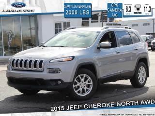 Used 2015 Jeep Cherokee NORTH AWD**GPS*CAMERA*BLUETOOTH*CRUISE*A/C** for sale in Victoriaville, QC