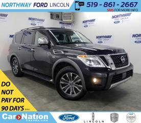 Used 2018 Nissan Armada SL | V8 | AWD | NAV | LEATHER | SUNROOF | 3 ROW | for sale in Brantford, ON
