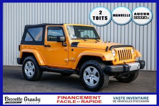 Used 2012 Jeep Wrangler Sahara-2 Toits-Hitch for sale in Cowansville, QC
