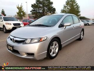 Used 2010 Honda Civic Sport  |SUNROOF|ALLOYS|AIR CONDITIONING|CERTIFIED for sale in Oakville, ON