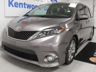 Used 2015 Toyota Sienna SE FWD with NAV, sunroof, heated power leather seats, rear DVD entertainment system for sale in Edmonton, AB
