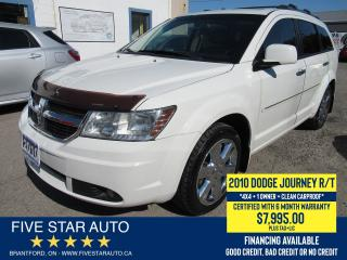 Used 2010 Dodge Journey RT AWD *Clean Carproof* Certified + 6 Mth Warranty for sale in Brantford, ON