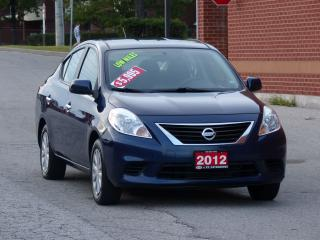 Used 2012 Nissan Versa LOW KMS,POWER OPTIONS,AIR-CONDITIONING,CERTIFIED for sale in Mississauga, ON