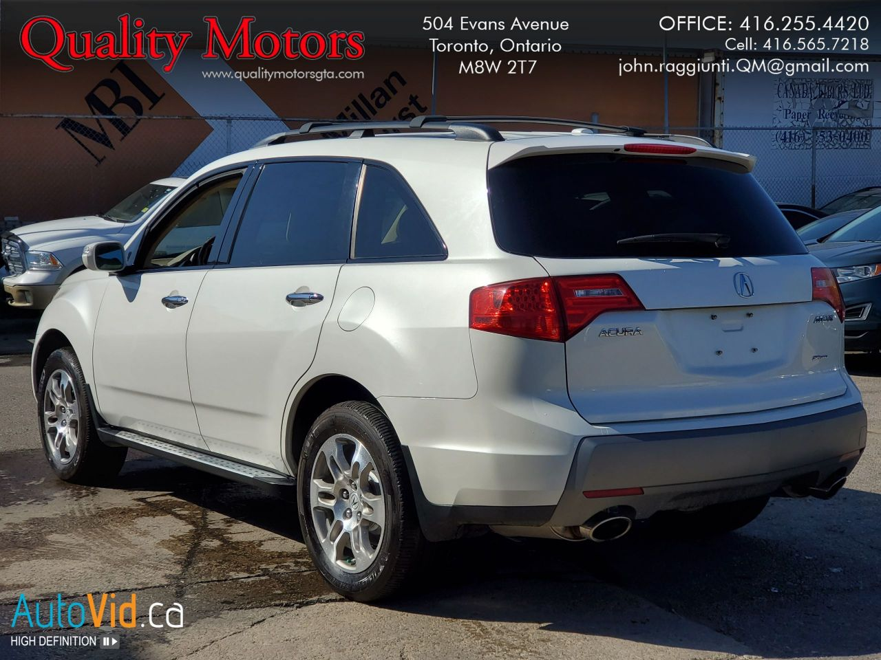 Ontario Quality Motors >> 2009 Acura Mdx Quality Motors