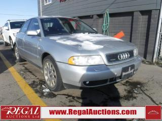 Used 2001 Audi A4 4D Sedan AWD 2.8 for sale in Calgary, AB